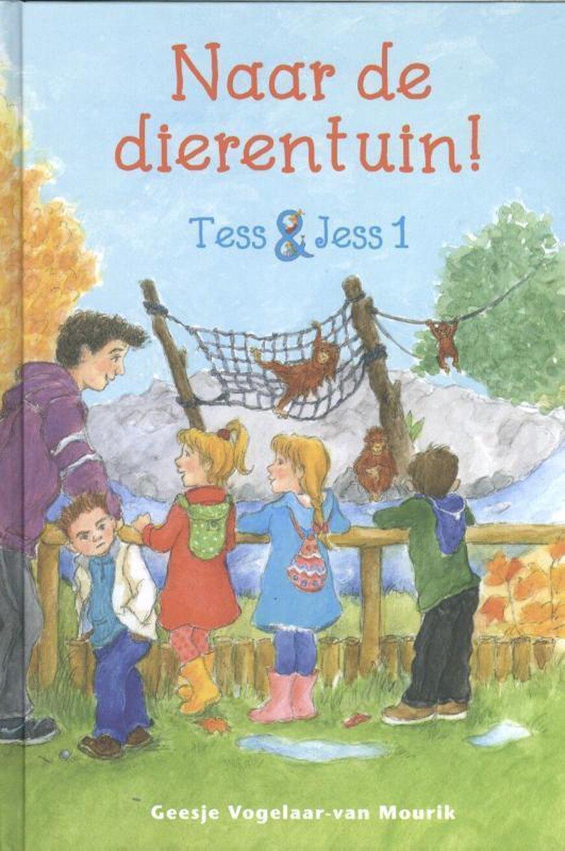 Tess en Jess zijn een tweeling. Ze gaan vandaag op reis met heel de klas! Naar de dierentuin. Bram en Koen zitten bij Tess en Jess in het groepje. Met elkaar zien ze heel veel dieren. Vooral de aapjes zijn erg leuk. Maar dan gebeurt er iets naars. Waar is