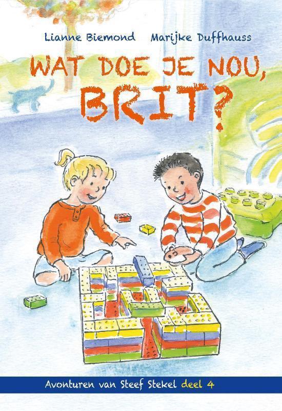 Lianne Biemond schreef opnieuw een vrolijk verhaal dat beginnende lezers graag zelf zullen willen lezen. Wat doe je nou, Brit? is het vierde deel in de serie Avonturen van Steef Stekel.